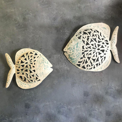 Distressed Finish Fish Wall decor