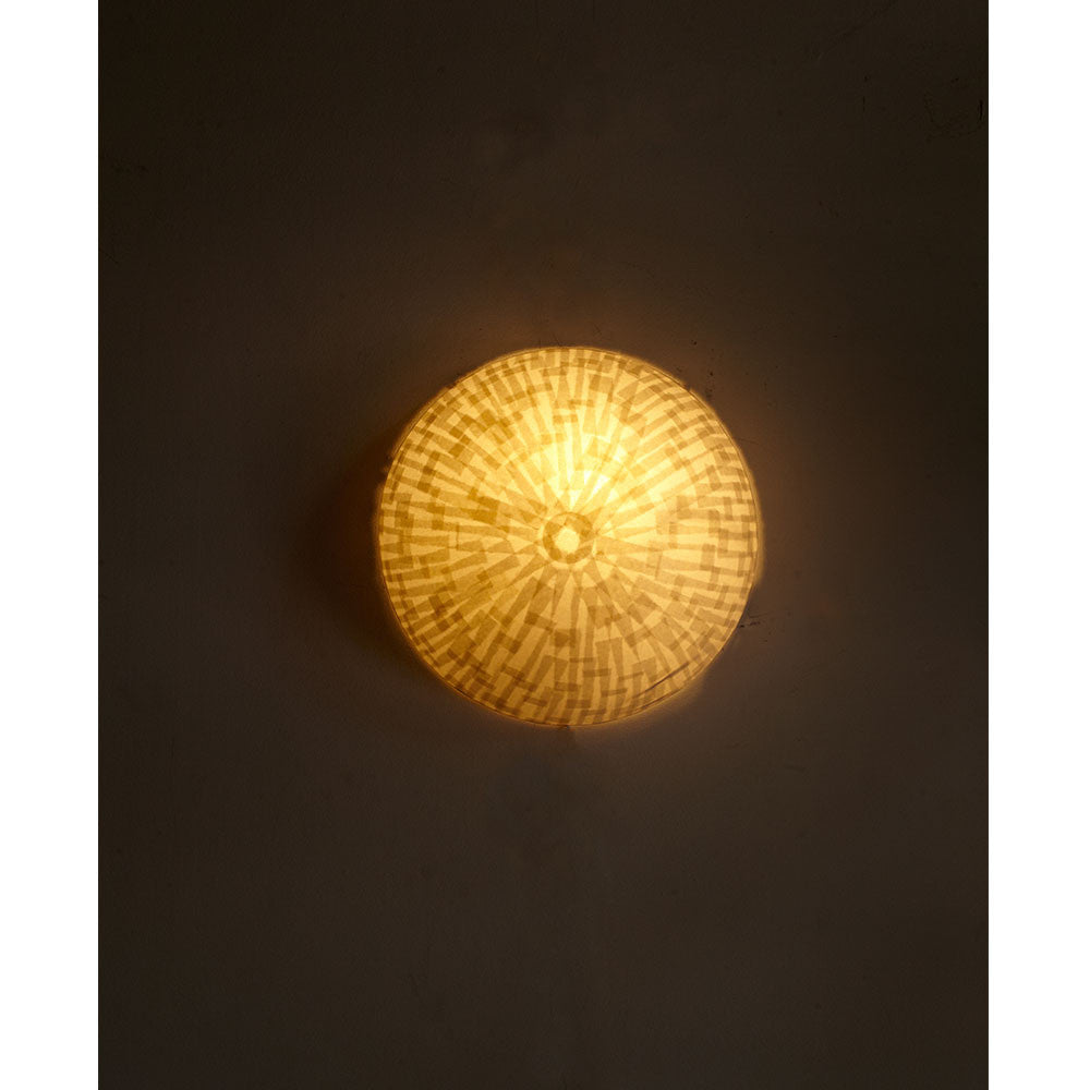 Full Moon Shoji Paper Wall Light