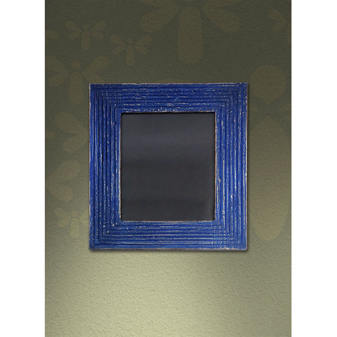 Groove Distressed Photo Frame - Blue