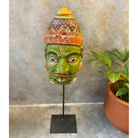Antique Mask on Stand