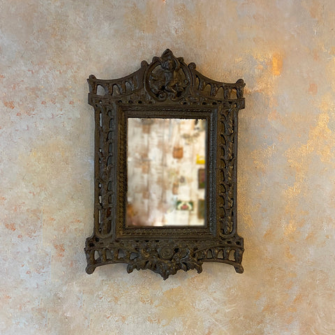 Victorian Carved Metal Mirror