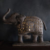 Rustic Elephant T-light Holder