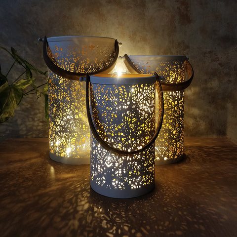 Cutwork Candle Holders (Set of 3)