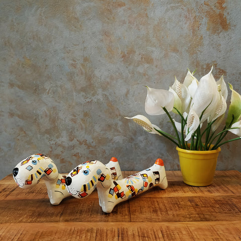 Paper Mache Dogs (Set of 2)