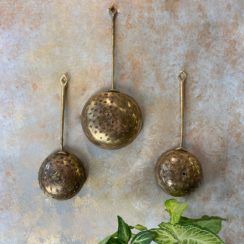 Antique Brass Serving Spoons(Set of 3)