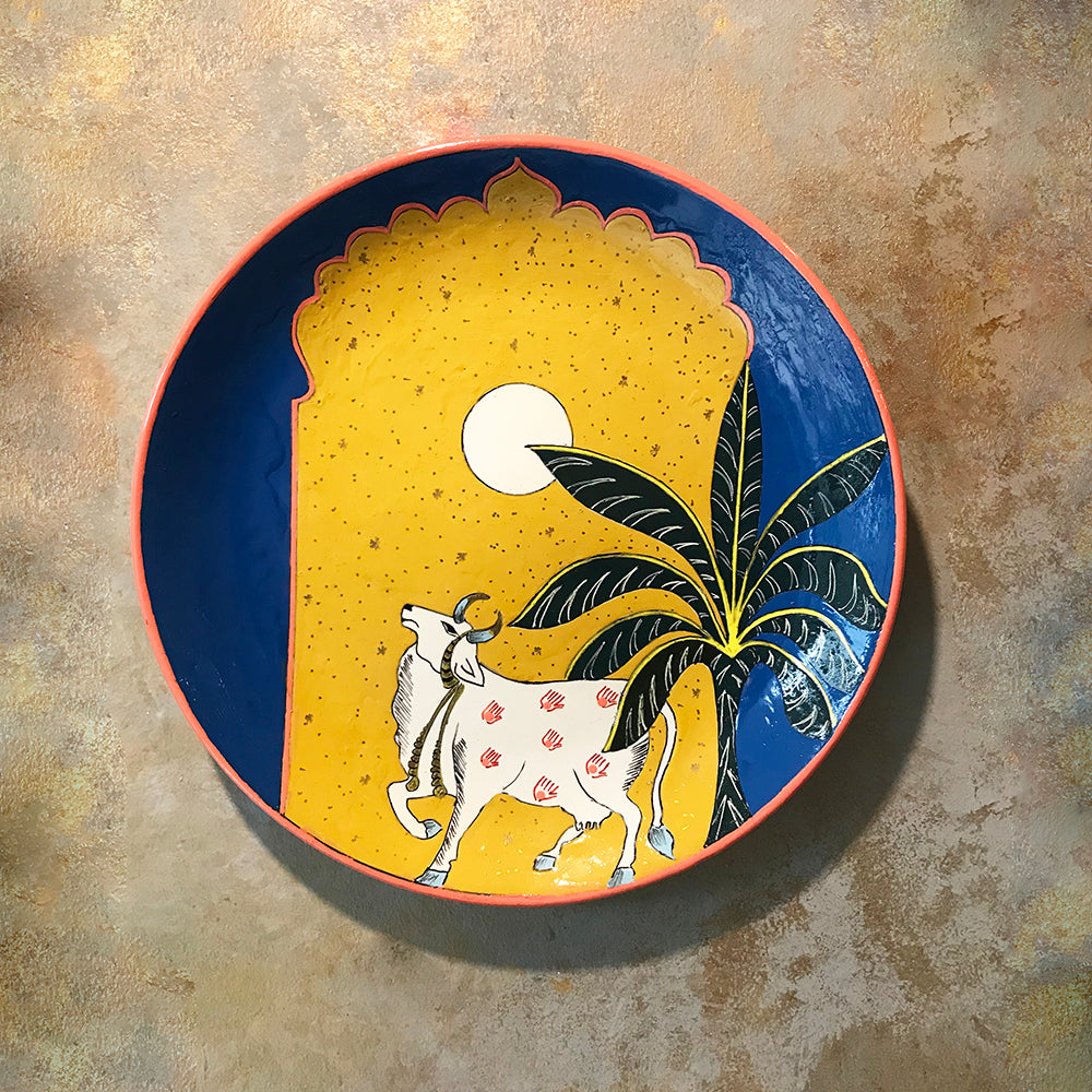 Pichwai Hand Painted Plate