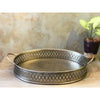 Handcrafted Cutwork Metal Tray (Set of 2)