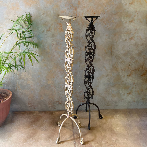 Tall Carved Candle Holder(Single Piece)