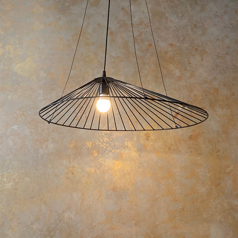 Wire Wide Hanging Light