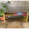 Colourful Recycled Fabric Bench