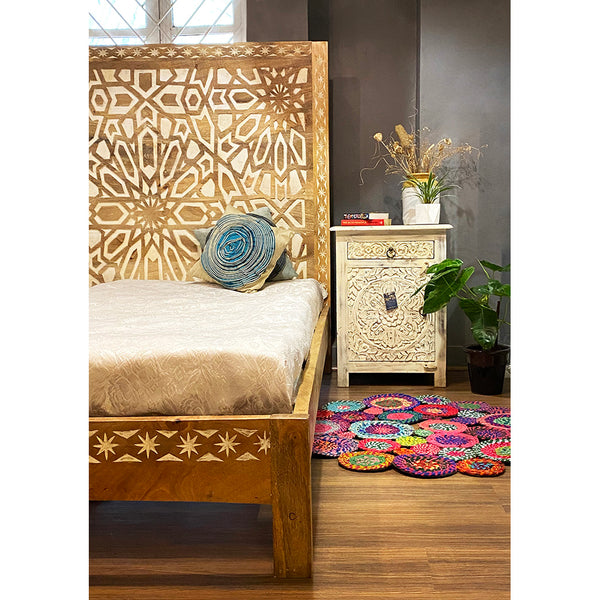 Alps Hand Carved Bed
