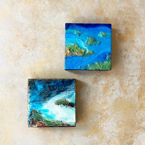 Ocean Resin Wall Art (Set of 2)