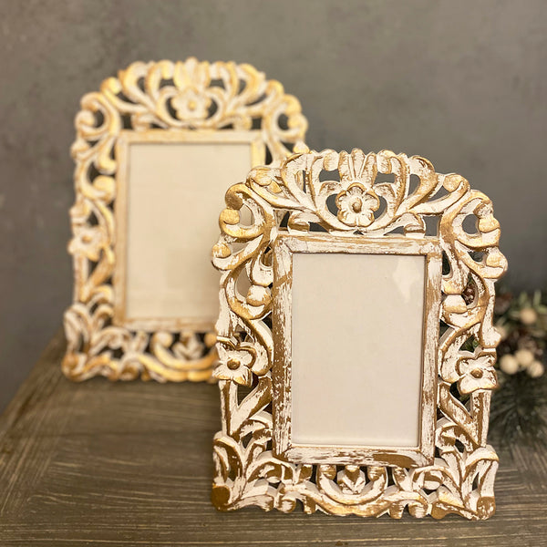 Carved Photo Frames (Set of 2)