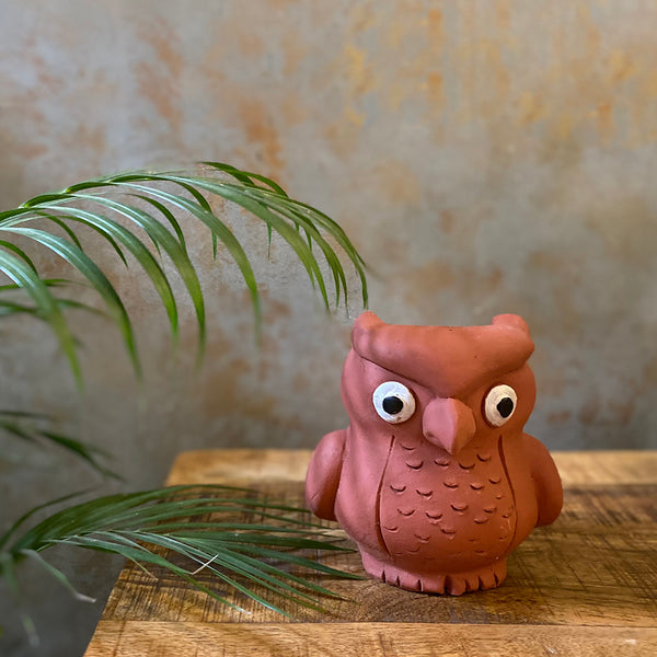 Terracota Owl Planter