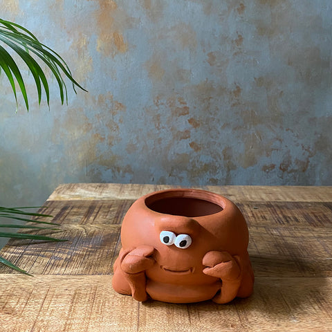 Terracota Mini Crab Planter