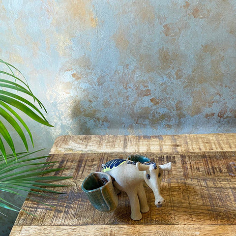 Ceramic Donkey with pouch