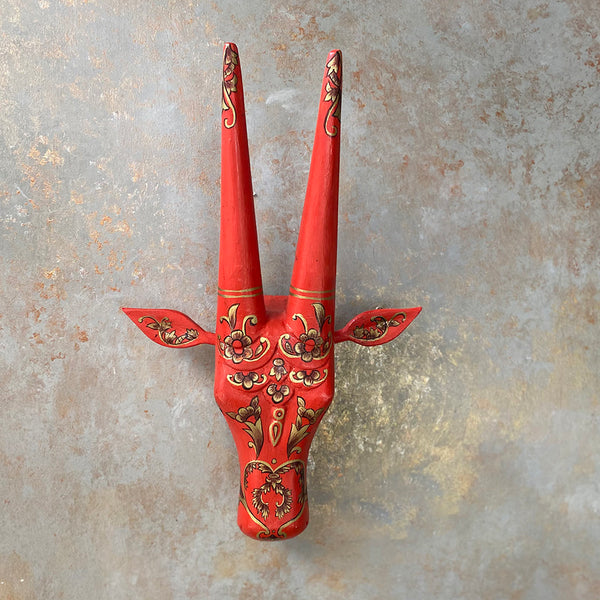 Hand Painted Bull Head