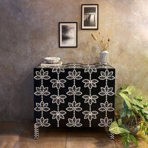 Flora Bone-inlay Chest of Drawers