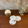 Dried Leaf Coasters with Coconut Holder (Set of 6)