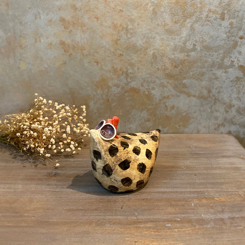 Ceramic Dotted Hen