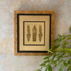 Antique Brass Pins Framed