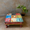 Vintage Painted Low Stool