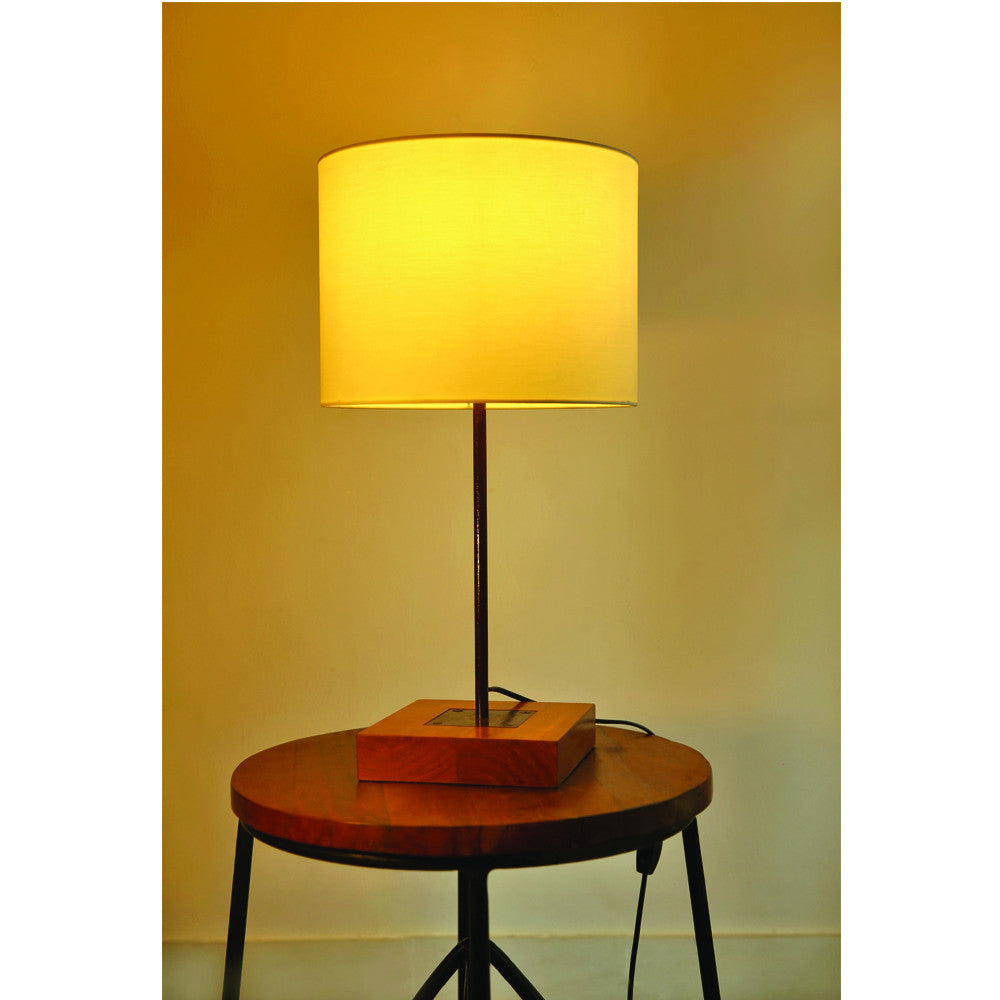 Industrial Table Lamp with Plain Shade