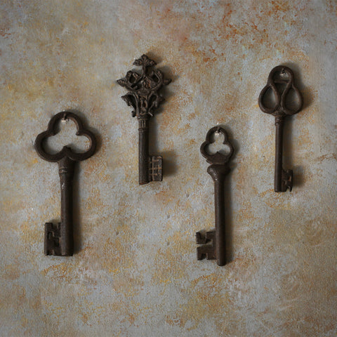 Antique  Set of 4 Keys