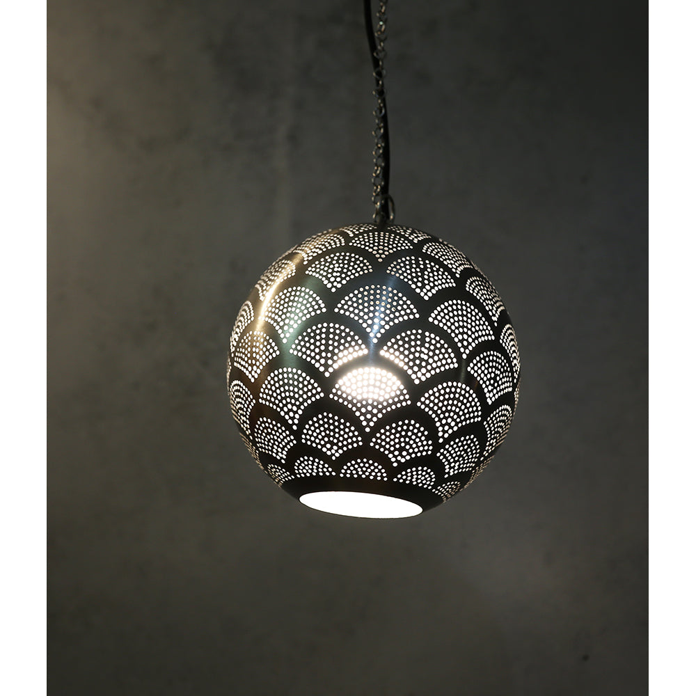 Perforated Ball Hanging Light