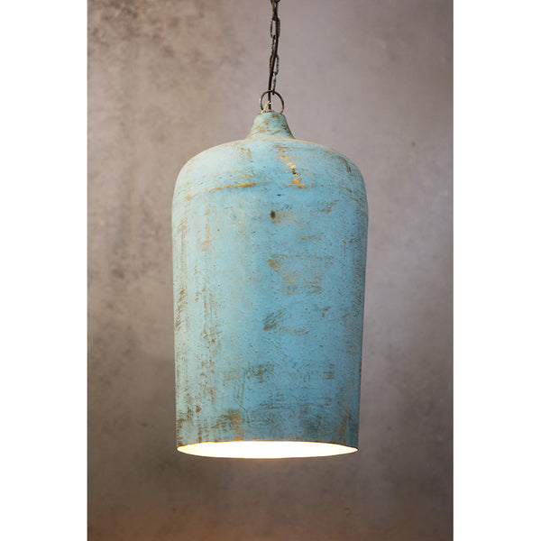 Tall Patina Hanging Light