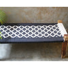 Black & White Rope Bench