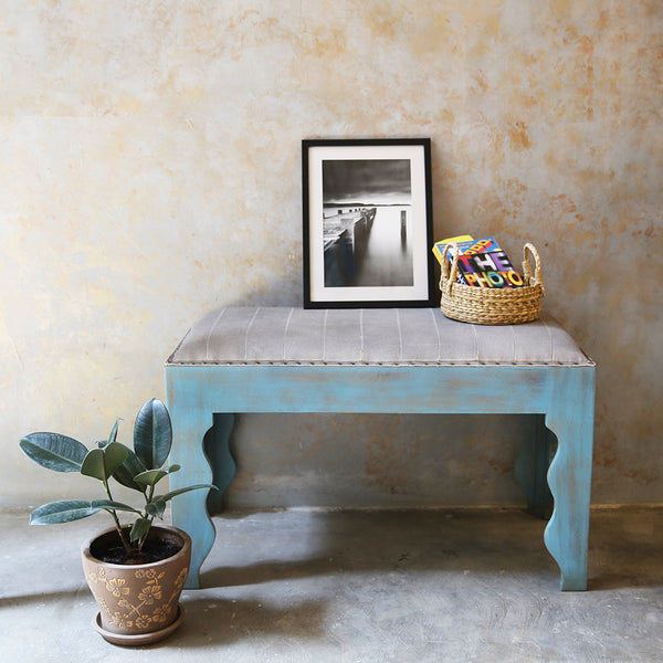 Canvas & Wooden Bench