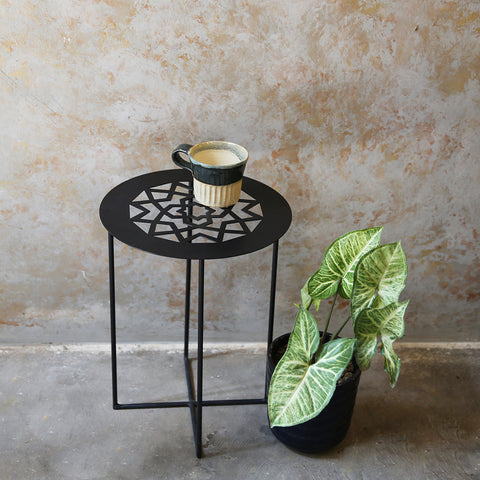 Metal Cutwork Round side table