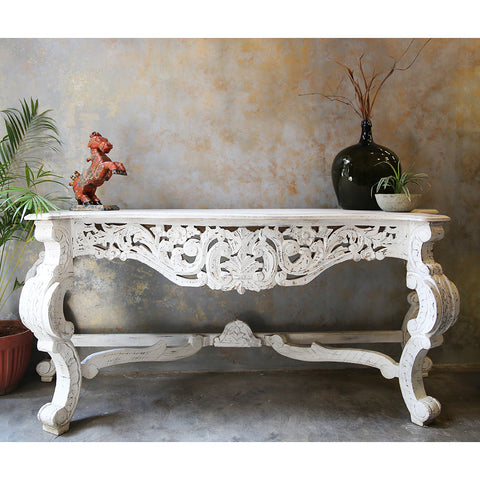 Carved Wooden Console Table