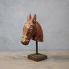 Vintage Horse Head on stand