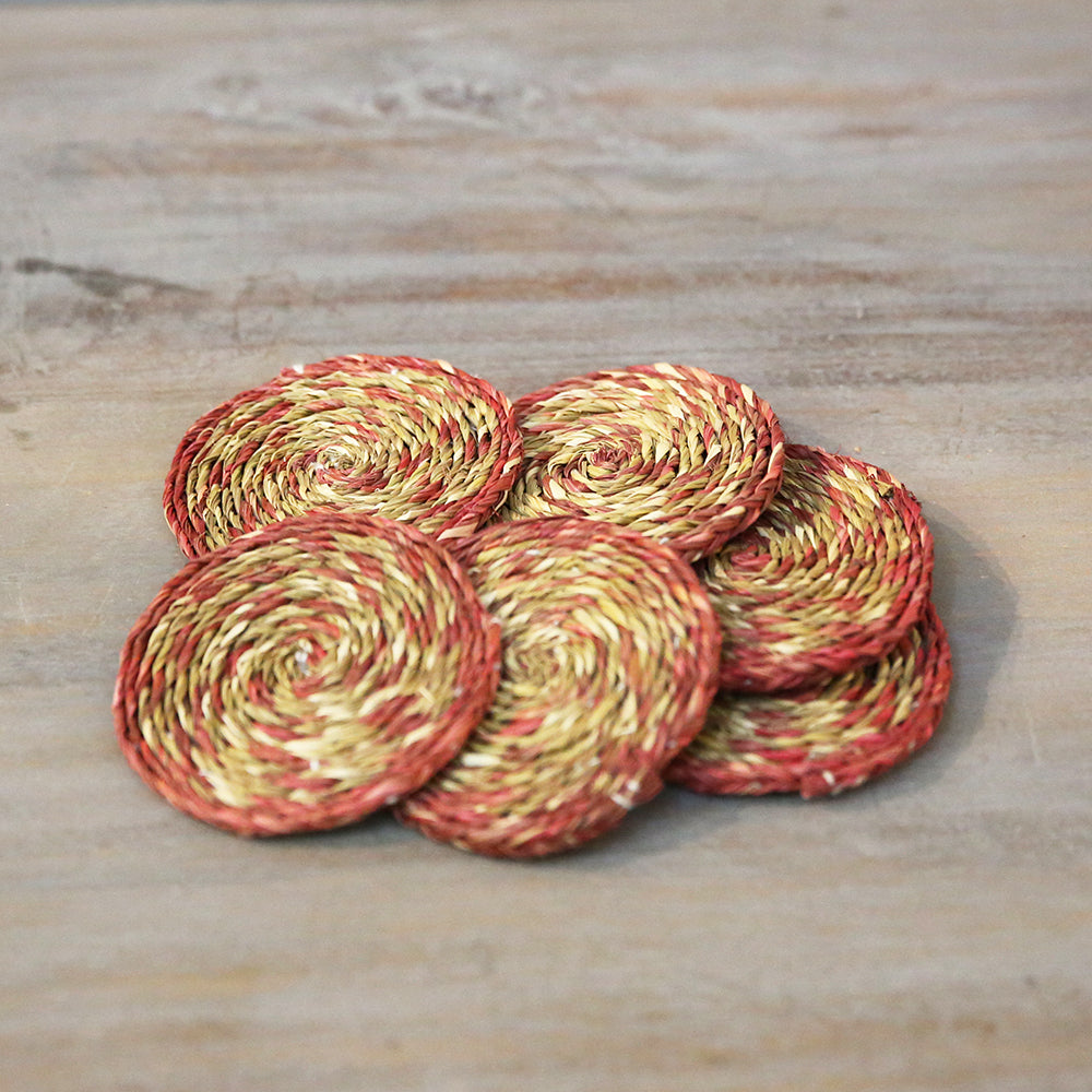 Sabai Grass Coasters (Set of 6)