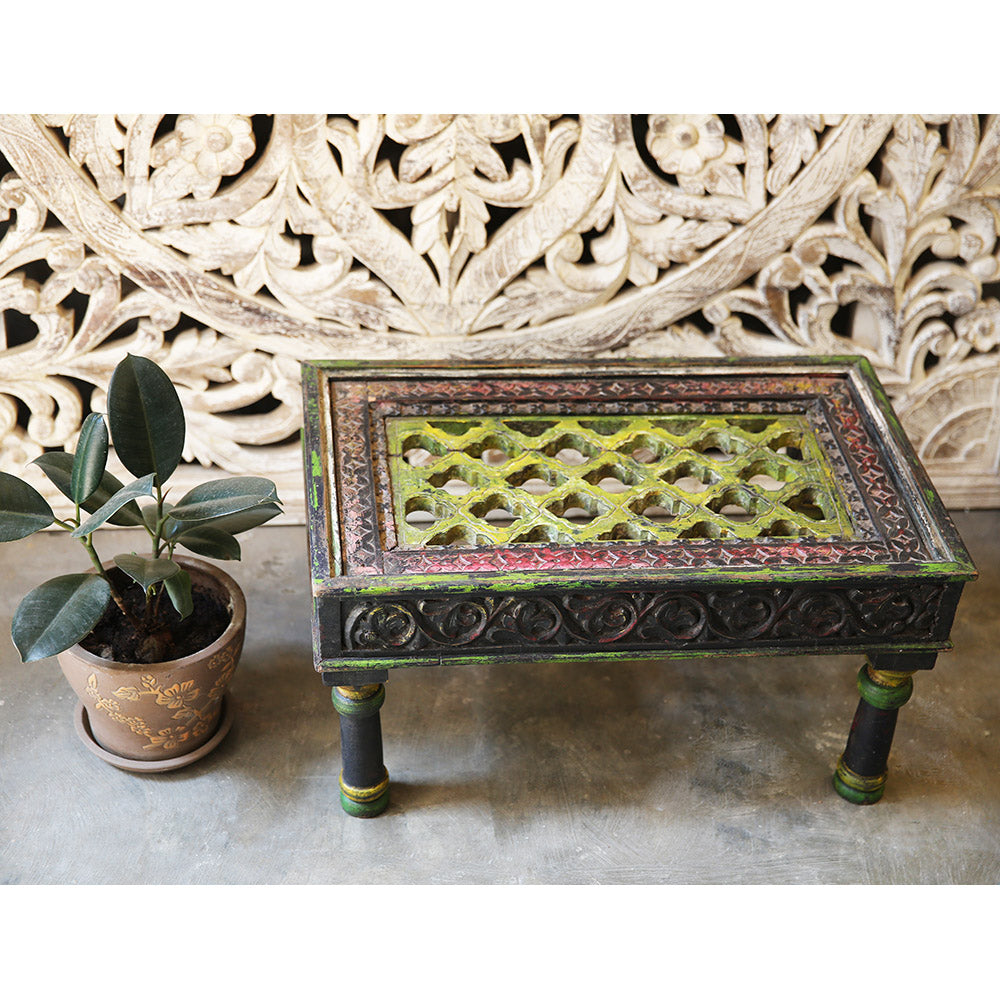 Antique Carved Wooden Table