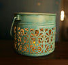 Cutwork Bucket Candle Holder