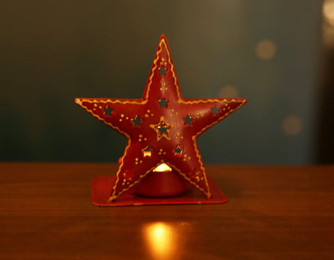Star T-light -Red