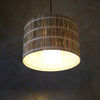 Vetiver Grass Drum Light