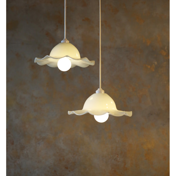 Vintage Flower Hanging Lights (Set of 2)