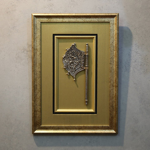 Silver Plated Pankhi Framed