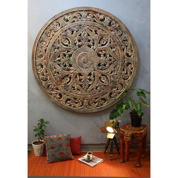 Round Carved Panel