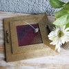 Square Tray & Napkin Holder Set