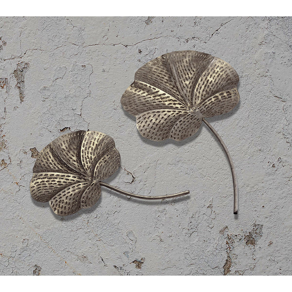 Cutwork Metal Leaves (Set of 2)