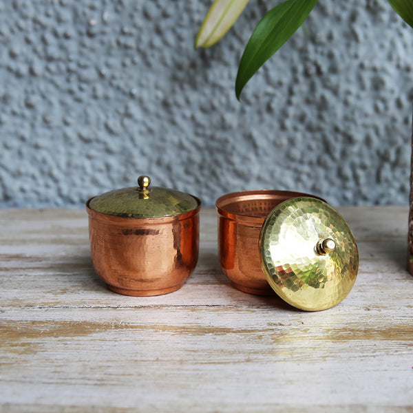 Copper Trinket Box (Set of 2)