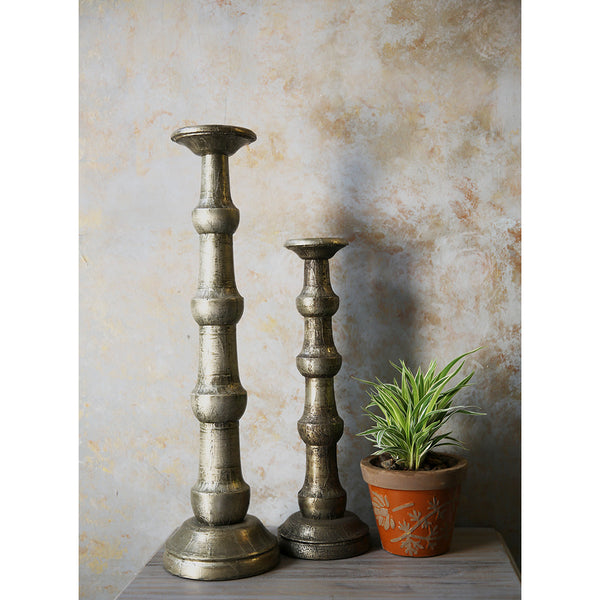 Wooden Candle Holder (Set of 2)