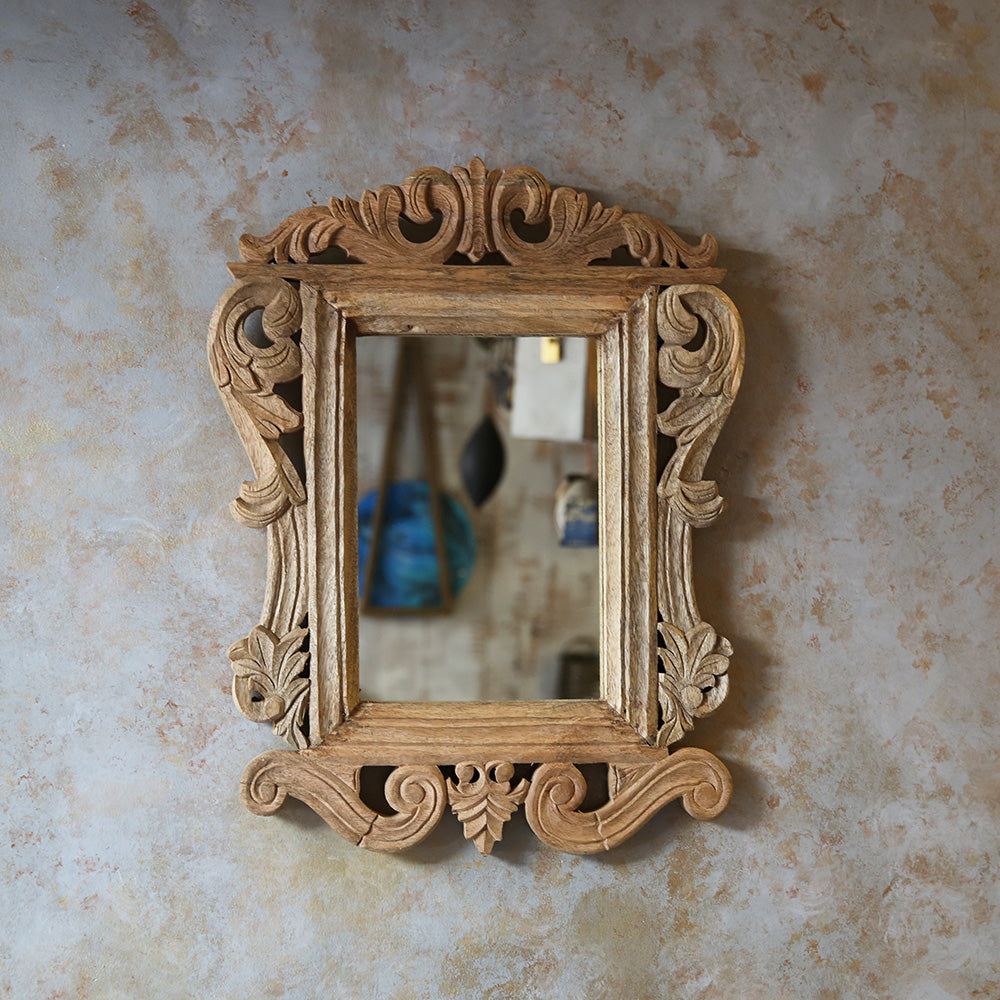 Carved Wooden Mirror