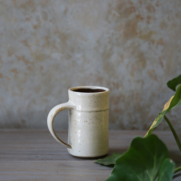 Speckled White Mug