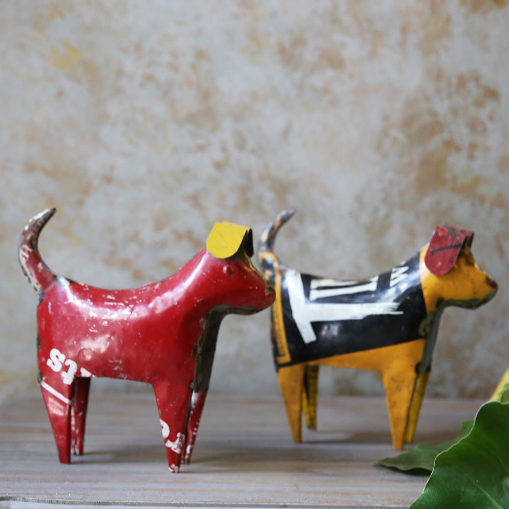 Pair of Tin Dogs